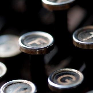 Tangenter på en skrivmaskin
