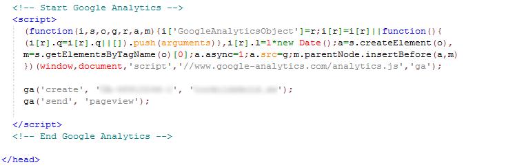 Kod för Google Analytics